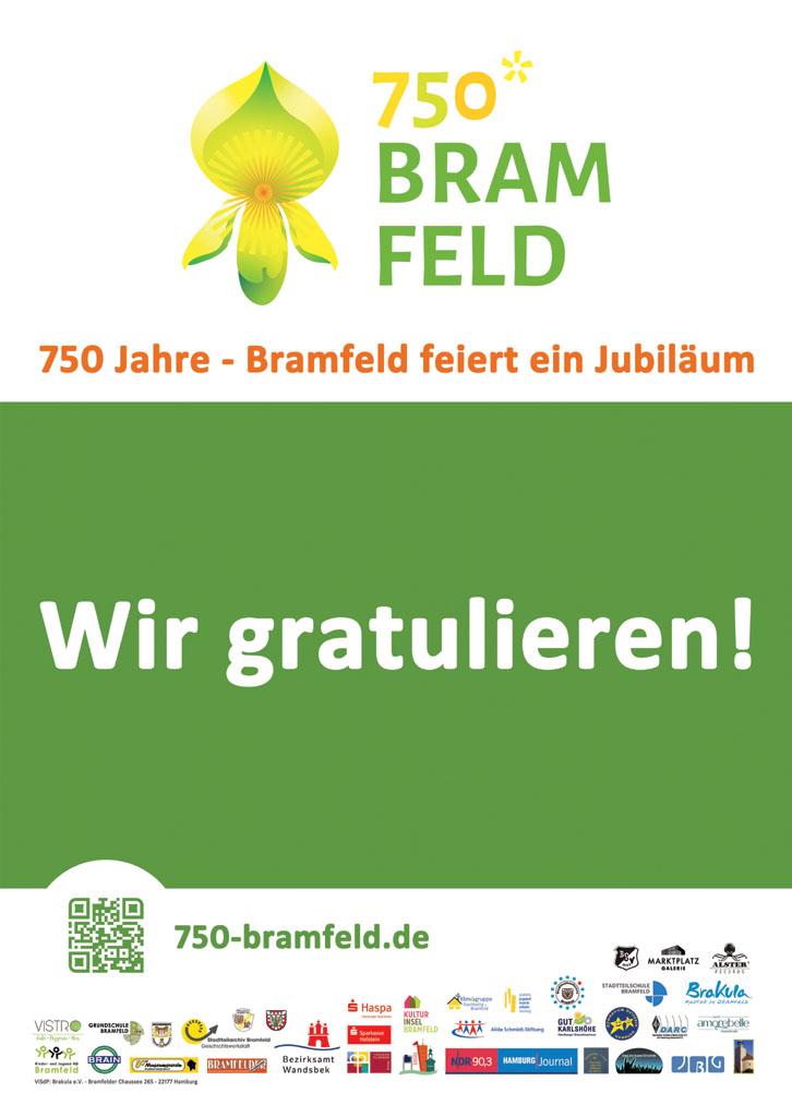 Plakat 750 Jahre Bramfeld
