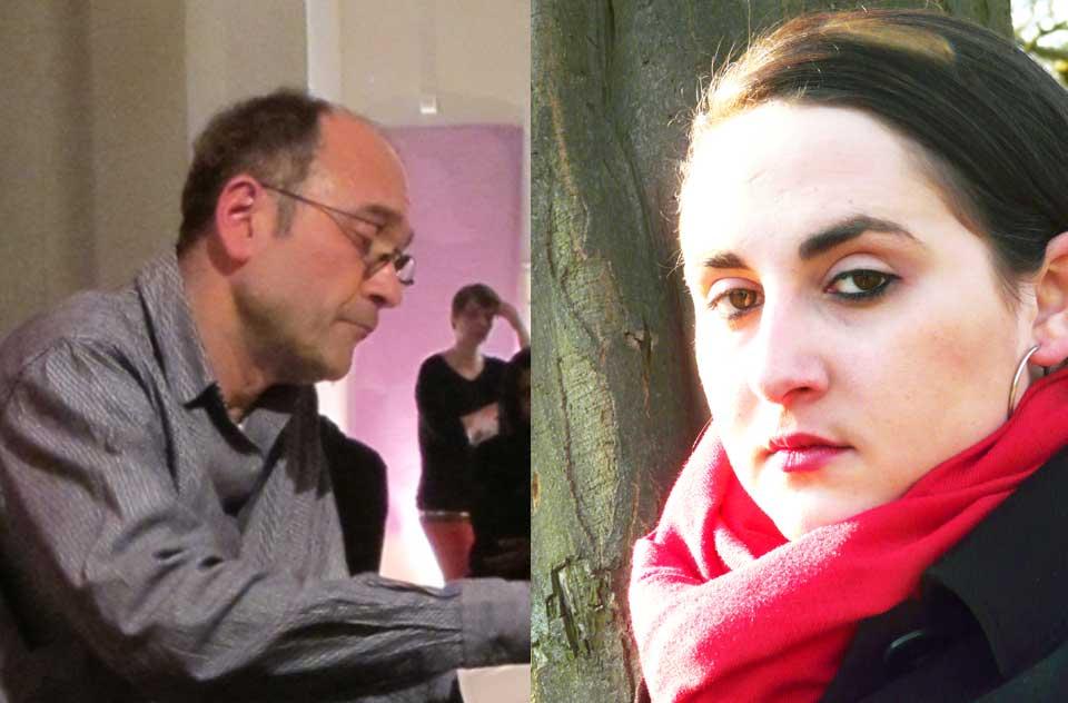 Farhad Showghi :Von Kritzolina - Eigenes Werk, CC BY-SA 3.0, https://commons.wikimedia.org/w/index.php?curid=31647520, Nino Haratischwili: Von Julia Bührle-Nowikowa - Eigenes Werk, Gemeinfrei, https://commons.wikimedia.org/w/index.php?curid=57476942